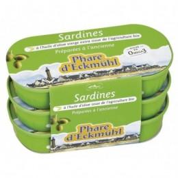 SARDINES HUILE OLIVE 3X55G