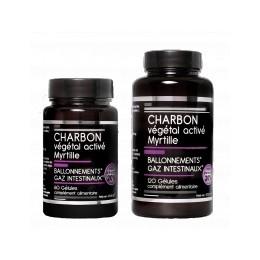 CHARBON VEGETAL ACTIVE + MYRTILLE X 120