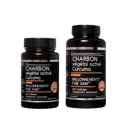 CHARBON VEGETAL ACTIVE + CURCUMA X 60