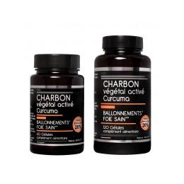 CHARBON VEGETAL ACTIVE + CURCUMA X 120
