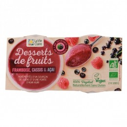 DESSERT DE FRUITS FRAMBOISE CASSIS ACAÏ