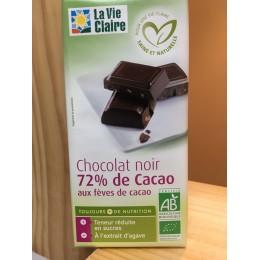 CHOCOLAT NOIR 72% FEVES CACAO.