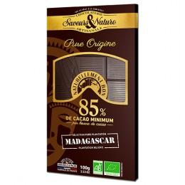 TABLETTE CHOC NOIR 85% MADAGAS