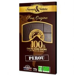 TABLET CHOC NOIR 100% PEROU