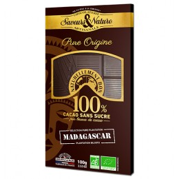 TAB CHOC NOIR 100% MADAGASCAR