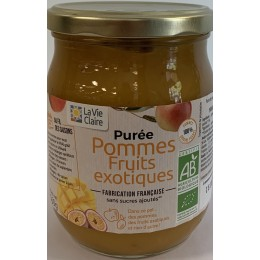 PUREE POMMES FRUITS EXOT 560G